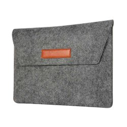 "Macbook Air 13.3"" Sleeve Kangastekstuuri Musta"
